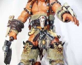 World of Warcraft Durotan sculpt, Height - 34 cm. handmade warcraft figure, sculpture Durotan, textile, statuette, Warcraft statue