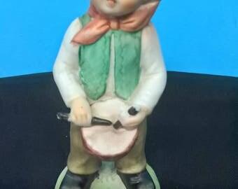 Hummel Like Figurine - Boy Playing a Drum