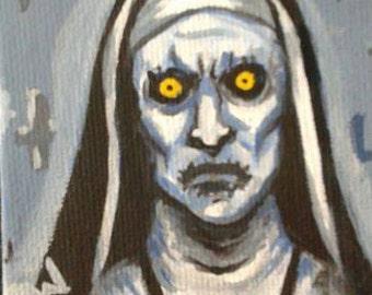 Valak the Demon, Original Painting, Mini Magnet Painting, Horror Art