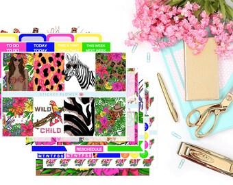 Wild Jasmine Weekly Erin Condren Planner Stickers Kit (9 Sticker Sheets)