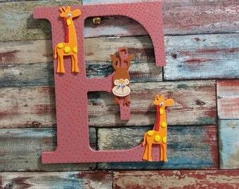 Home Decor Wooden Letter  , Wall Decor , Nursery Decor Letter E , Wall Handing Letter E , Kids Room Decor Letter E , Wood Name Letter