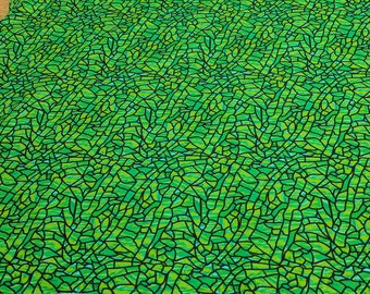 Art Glass Green Crackle Cotton Fabric from P&B Textiles