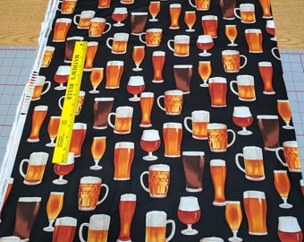 Cheers-Beer Glasses (14750) Cotton Fabric from Robert Kaufman