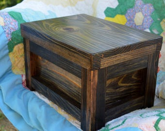 Handcrafted Rustic Cedar Lined Treasure Box, Keepsake Box, Wood Jewelry Box