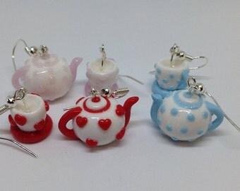Teapot and Teacup Earrings