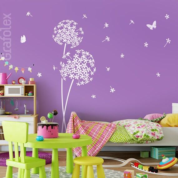 wandtattoo kinderzimmer pusteblume und schmetterlinge. Black Bedroom Furniture Sets. Home Design Ideas