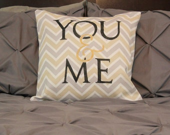 You & Me Pillow Cover