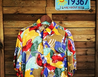 Camisa vintage Shirt Print 90s Colorful Club