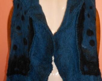 Butterfly felt vest from merino wool XXL