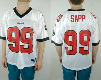 WARREN SAPP #99 Tampa Bay BUCCANEERS Authentic Adidas Football Jersey, 1990's vintage, size M, sports shirt, american football