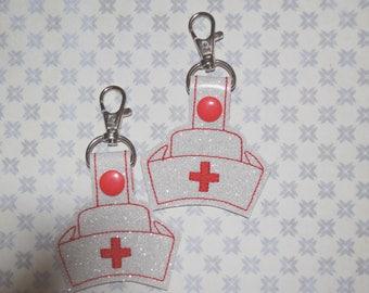 Nurse Hat Keychain