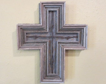 Barnwood Cross with Barbed Wire