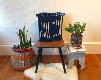 African Batik Mudcloth Blanket Throw   Blue Batik Indigo Pattern   Baby Shower Gift