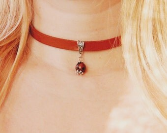 leather necklace leather jewelry leather choker Bead choker Statement necklace Boho necklace Statement jewelry Boho jewelry Tribal Necklace