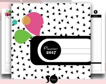 2017 Planner, 2017 organizer, 2017 agenda, 2017 life planner, yearly planner, weekly planner, monthly planner, letter size, INSTANT DOWNLOAD