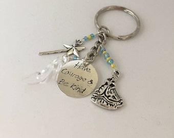 Cinderella inspired keyring, Cinderella inspired keychain,  item 405 by CraftyLittleMonkeyGB