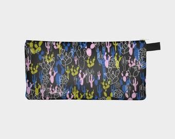 Cactus Pencil Case, Zipper Pencil Case, Cactus Print, Succulents Print, Cactus Pencil Bag, Cactus Pencil Pouch, Zipper Pouch, Make Up Bag,