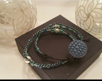 Sea Colored Wrap Bracelet