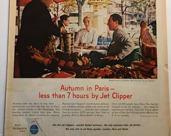 Pan Am PARIS Ad from 1960's LIFE magazine