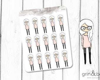 Glasses Girl! Stickers (DS006)