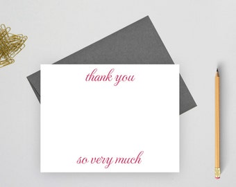 Thank you note cards, Wedding thank you cards set, Wedding Stationery, thank you notes, thank you cards wedding, flat notecards, TC4
