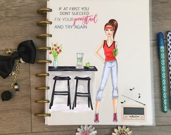 Planner Cover for Erin Condren, Happy Planner Cover, Recollections Planner, Fitness, gym, health, fitness planner, fitness planner cover