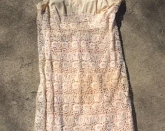 1970's Crochet Slip Dress