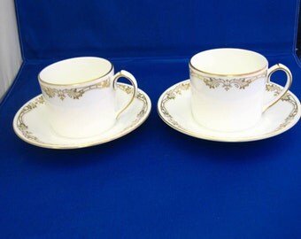 Aynsley, bone china, coffee cup and saucer in Chelsea Gold design
