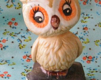Vintage Enesco Company's Weather Owl Forcaster, circa 1975