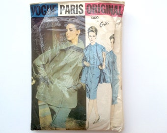 1960s Dress & Jacket B34 Sewing Pattern : Vogue Paris Original Gres 1300