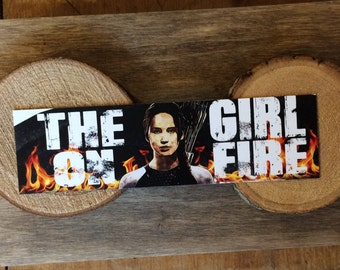 Girl On Fire Bookmark - Quote