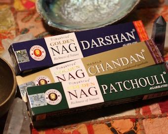 Darshan,Chandan,Patchouli incense 3 for 5