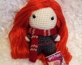 Ginny Weasley Handmade Amigurumi crochet doll