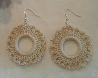 crochet, crochet earrings