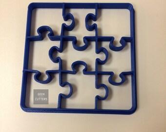 Puzzle Cookie Cutter Desk - 1 cut - 9 forms