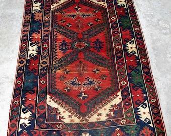 HR44, 116 x 190 Cm, Antique Rare Persian Afshar Carpet, Hand Knotted Persian Qashkai Old Decor Rug