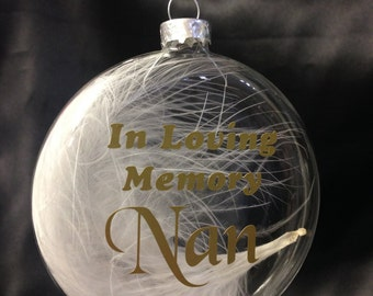 Personalised Bauble - Glass