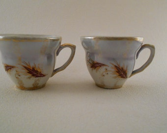 Vintage Turkish Espresso Cups, Made in Istanbul - Set of 2