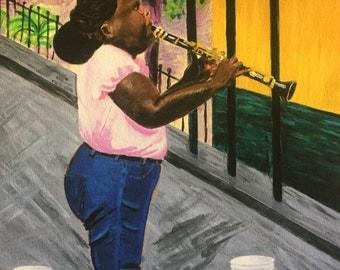 New Orleans Jazz Clarinet Print