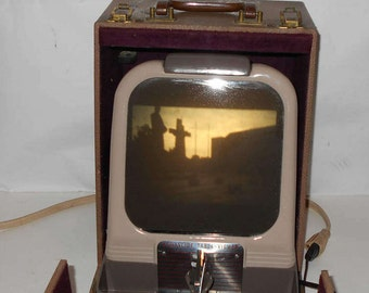 Vintage 1940s Kodaslide Table Viewer Model A Series 2, Eastman Kodak, Rochester NY, USA ,With Carrying case,Tested & Working,Portable viewer