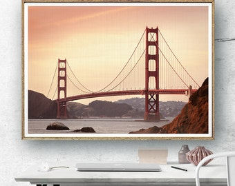 Golden Gate Bridge, San Francisco Art, California Photography, California Wall Art Decor, Golden Gate Print, Bridge Print, Large Wall Art