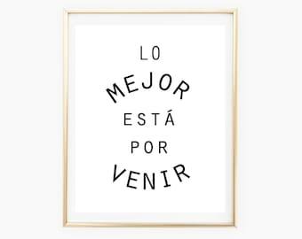 Spanish Quote Print, Spanish Wall Art Sign, Digital Art Quote, Printable Spanish Sign, Home Decor, Printable Wall Art