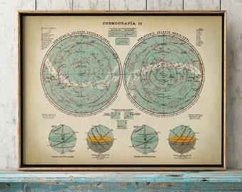 ASTRONOMY STAR CHART Print, Star map, Astronomy Print, Stars Print, Astronomy poster, Constellations, Astronomy Poster, Celestial Art
