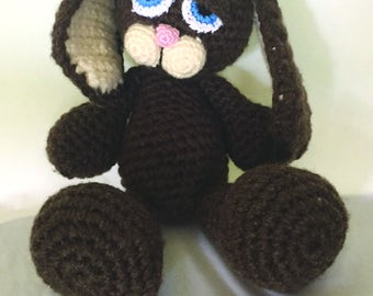 Sleepy Sable Bunny Crochet Pattern PDF / Amigurumi