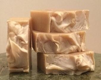 Lemongrass, Ginger, Peanut Butter Soap