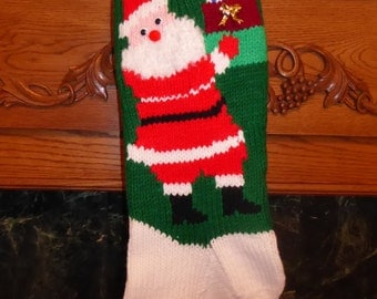 """Knitted Christmas Stocking Pattern - """"Gifts from Santa"""""""