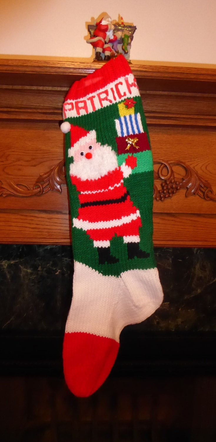 Knitted Christmas Stocking Pattern Gifts from