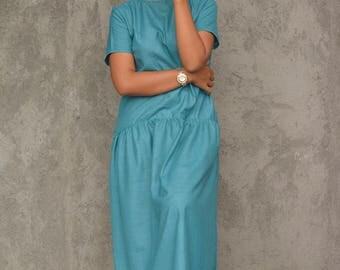 Linen Maxi Dress   Long Oversized Maxi Dress   Handmade Maxi Linen Cotton Dress  FREE SHIPPING