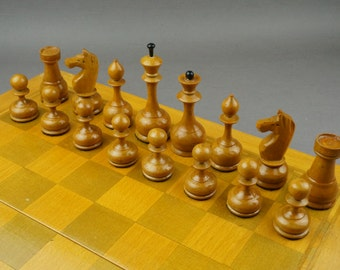 Chess USSR, Soviet chess, wooden chess, chess set, chess game, outdoor game, vintage chess, gift, USSR, wooden chess set
