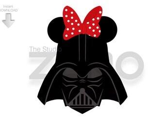 Clip Art Darth Vader Clip Art darth vader clipart etsy disney mini mouse digital clipart